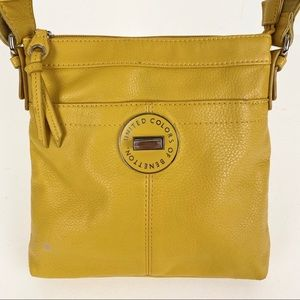 United Colors of Benetton Shoulder Bag Yellow Soft